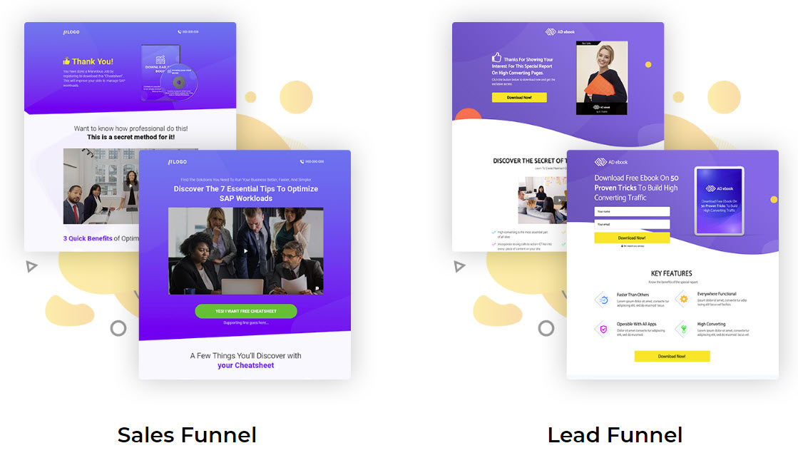 maxfunnels 2.0 review - leads and sales templates