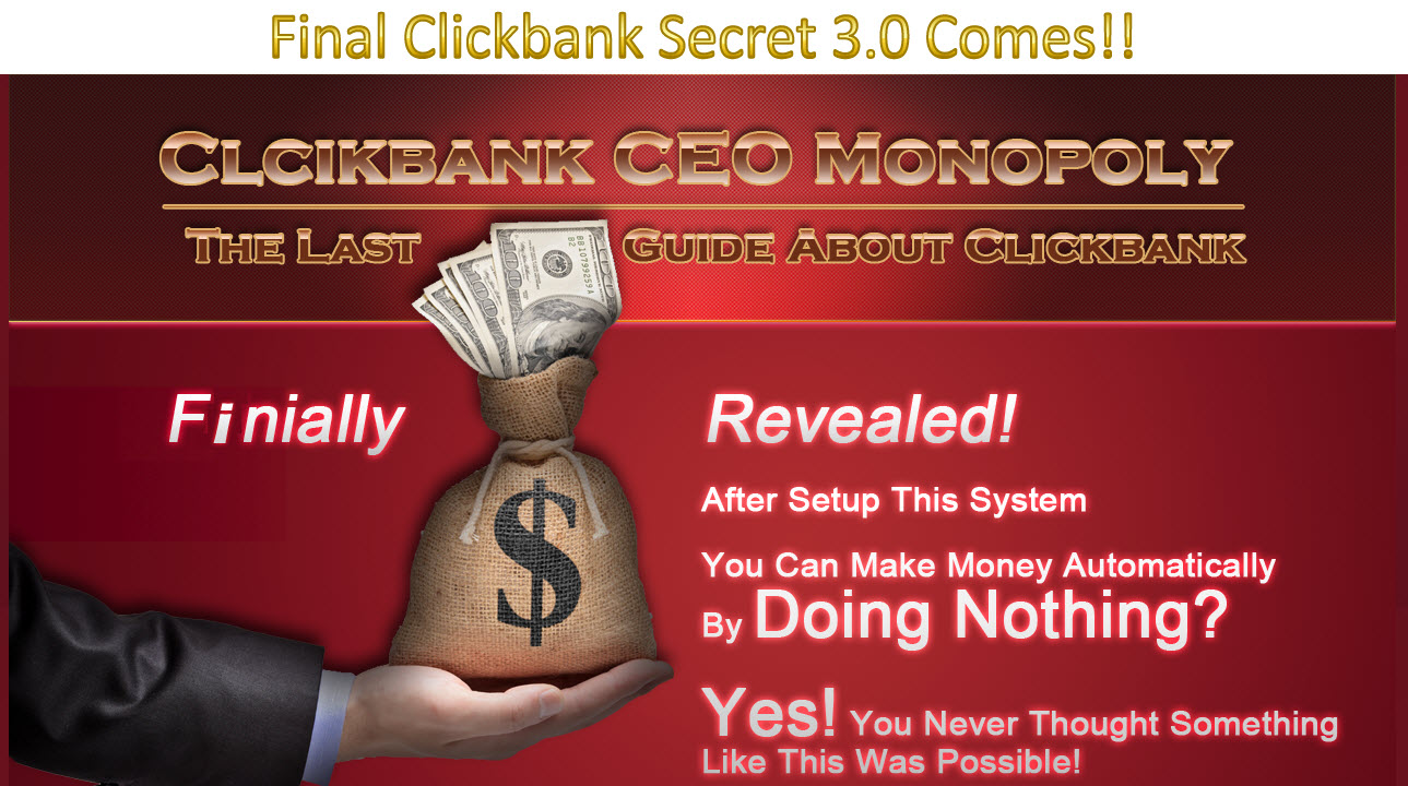 CB CEO Monopoly – Learn To Earn From Clickbank As Affiliate